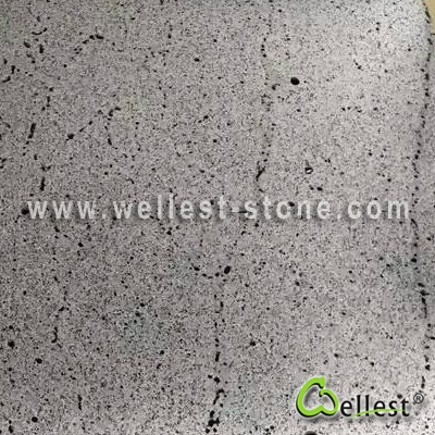 B402 -V  Hainan Grey Basalt (Andesite) Random Veins with Semi Polished Finish