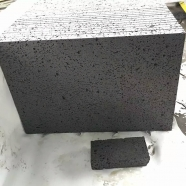 V404 -B Black Volcanic Lava Stone Big Hole Floor Wall Tile Honed Finish
