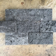 V404 -M Black Volcanic Lava Stone Middle Hole Brick for Wall