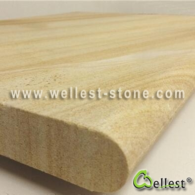 SY Yellow Sandstone Swimming Pool Copping Tile With Bullnose Edge - Bullnose tiles for pools