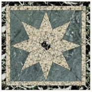 WJM-038 Marble and Granite Pattern Water Jet Medallion