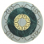 WJM-042 Marble Pattern Water Jet Medallion