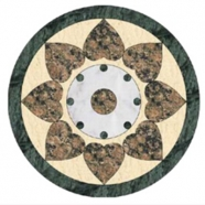WJM-046 Marble Pattern Water Jet Medallion