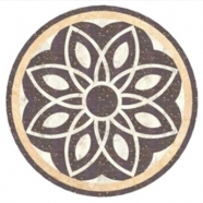 WJM-048 Marble Pattern Water Jet Medallion