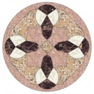 WJM-050 Marble and Granite Pattern Water Jet Medallion