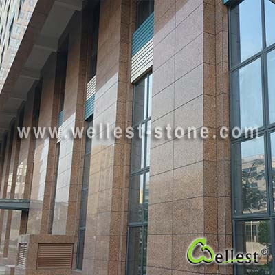 G563 G-Lin Red Granite Polished Tile for Wall Cladding