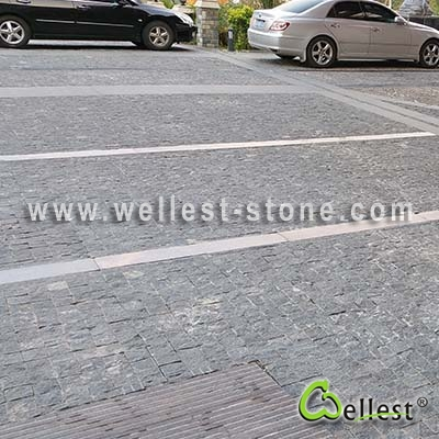 G654 Top Natural with 4 Side Sawn cut  Cobble Stone