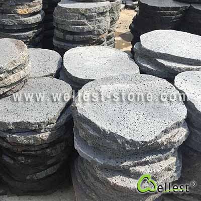 v404 Lava Stone Sawn Cut Finish Round Stepping Stone Model No.: GSS-SY171