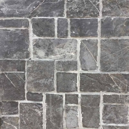 LS-112B Black Limestone Loose Stone Pattern Brick Tile