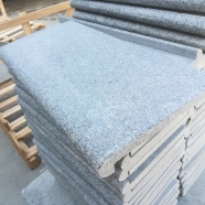 G654 Medium Grey  Granite ar Pearl Grey White Granite Flamed Anti-slip Swimming Pool Coping