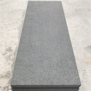 G345 Diamond Black Granite Flamed Tile