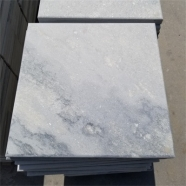 Q036 Cloudy Grey White Quartzite Marble Coping Stone With Bevel Edge 3