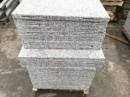 G603 Lunar Pearl Light Grey Granite Flamed Wall Cladding Tile With Groove 1